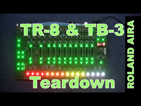 MF#19 Roland AIRA TR-8 and TB-3 take a LOOK INSIDE