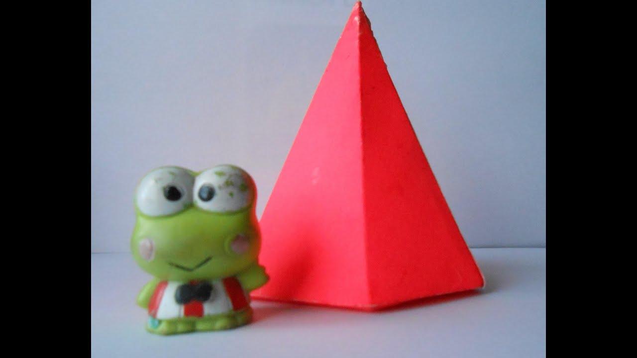 Como hacer una piramide Hexagonal - YouTube