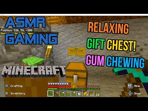 ASMR Gaming 💎 Minecraft Relaxing Gift Chest Gum Chewing 🎮🎧 Controller Sounds + Whispering 😴💤