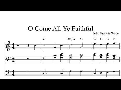 O Come All Ye Faithful: CHRISTMAS SHEET MUSIC Piano Organ & Keyboard Book 1