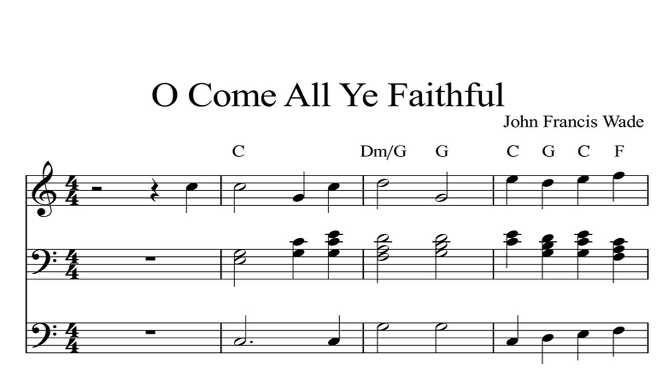 Come all ye faithful christmas sheet music piano organ amp keyboard