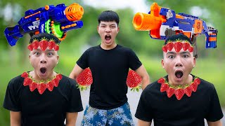 NTK Nerf Movies Captain SEAL TEAM Warrior Nerf Guns Fight Robbers Team Deliver STRAWBERRY WAR