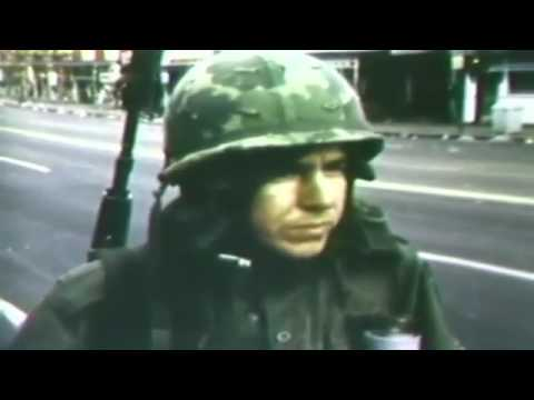 Archival footage of riots in the Washington D.C. area April 1968 U.S. Army