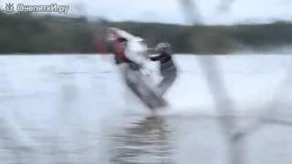 Экстрим по воде на снегоходе))))))))(опасные развлечения))), 2015-03-06T14:28:10.000Z)