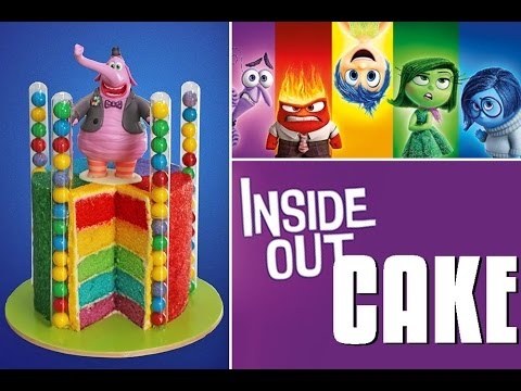 INSIDE OUT Cake Disney Inside Out Rainbow Cake My Cupcake