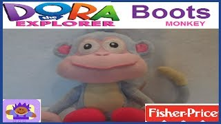 2001 Nick Jr. Dora the Explorer Talking Boots the Monkey Plush By Fisher Price