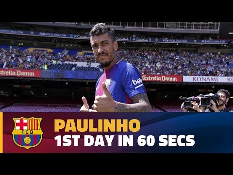 Paulinho's first day in Barcelona in 60""