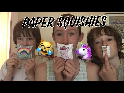 Updated PAPER SQUISHY COLLECTION! (w/ brothers)