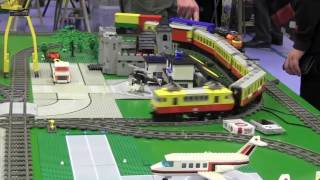 Hobby Fair 2017  : Lego Trains in action Trains  - From Jevnaker -  Norway