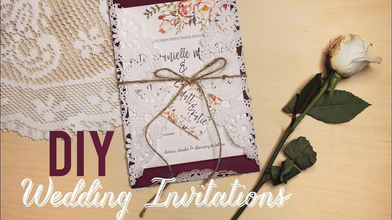 EASY DIY WEDDING INVITATIONS katiecreepzalot YouTube