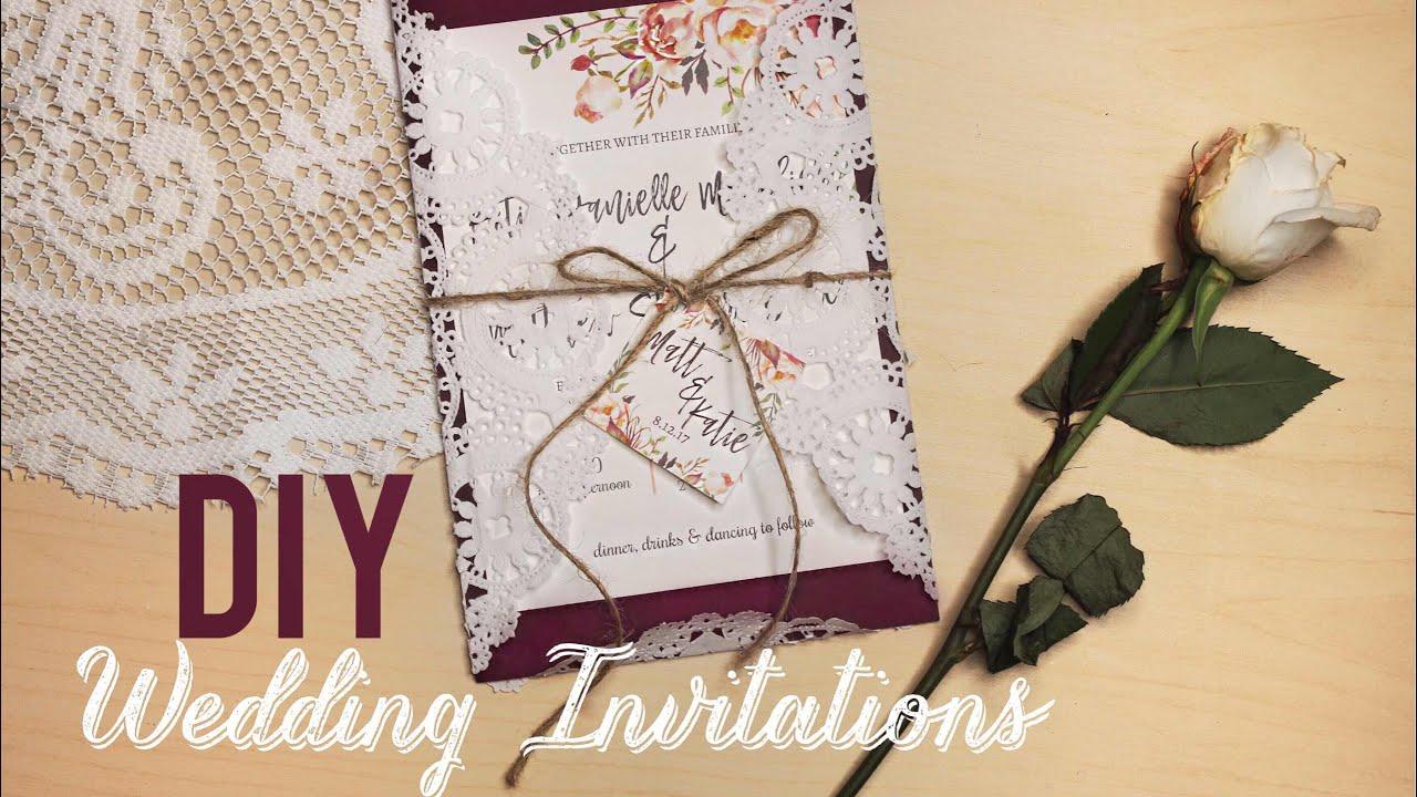 Easy Diy Wedding Invitations Katiecreepzalot
