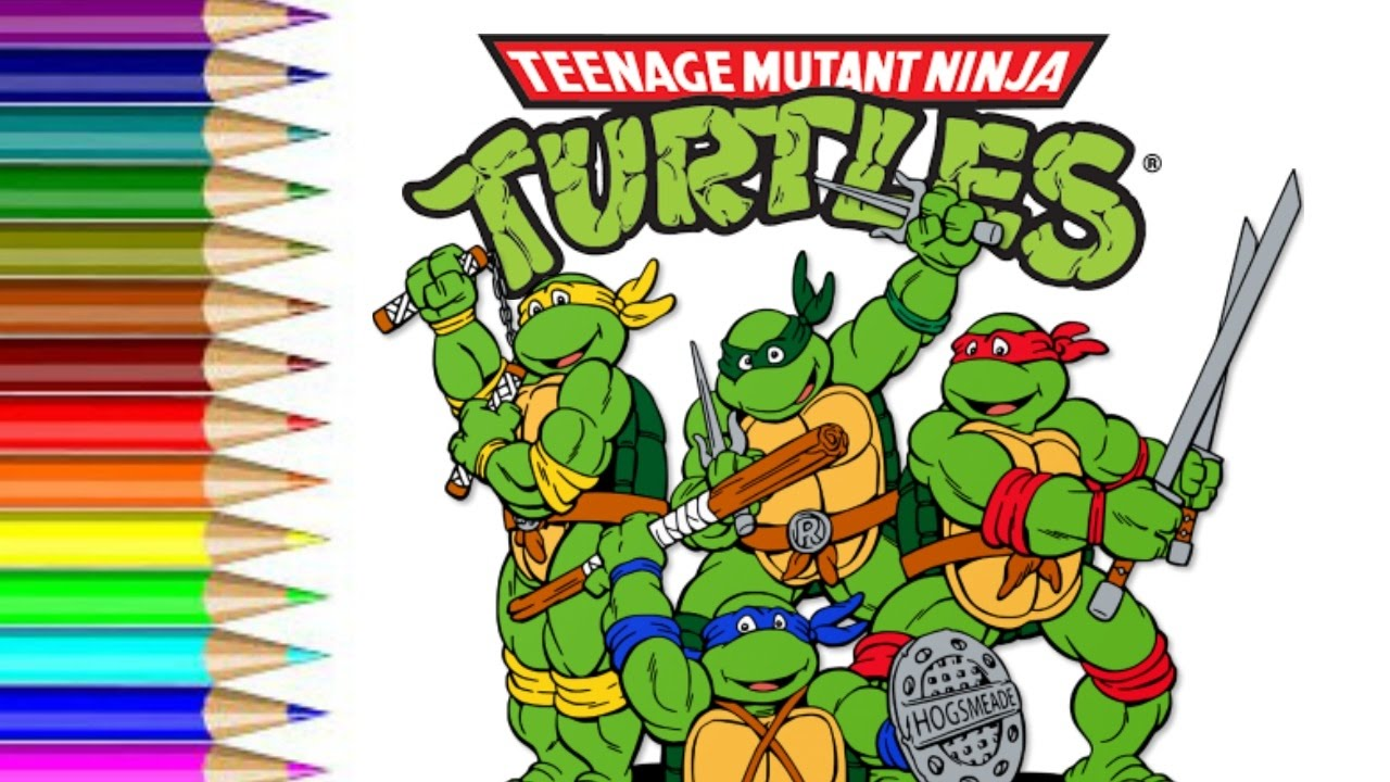 how to Draw Teenage Mutant Ninja Turtle fun for kids to learn art ...