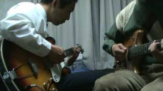 Discipline(King Crimson) short cover/Me and Hitoshi