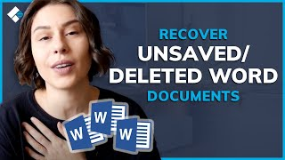 Word File Recovery Solขtion | How to Recover Unsaved/Deleted Word Documents on Windows?