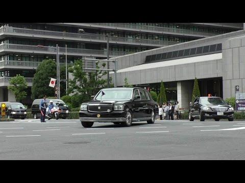 国賓 フィリピン アキノ大統領の車列24台 内幸町