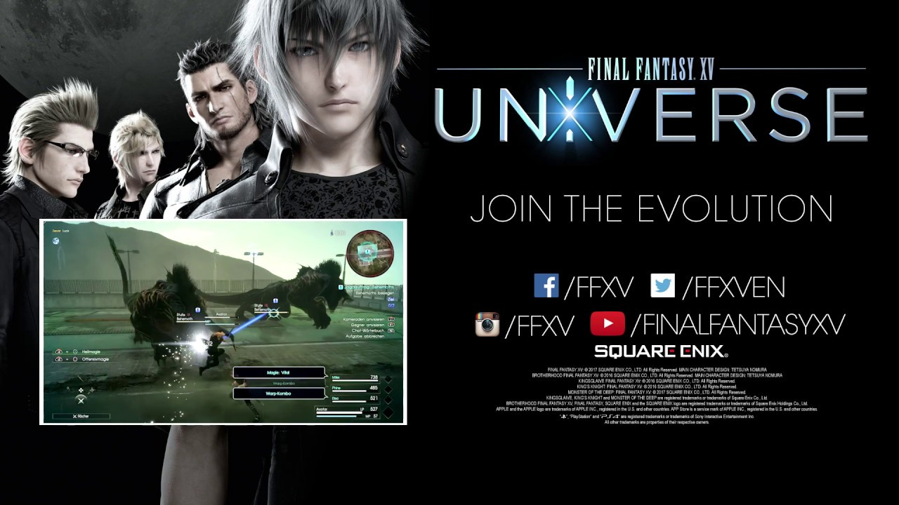 Final Fantasy XV Universe Trailer - E3 2017
