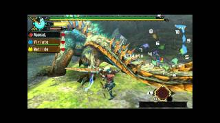 MHP3rd Switch Axe Battles - Jinouga