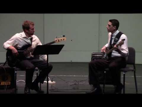 """""""Invention In C Minor"""" -Billy Joel (Electric Bass Duet)"""
