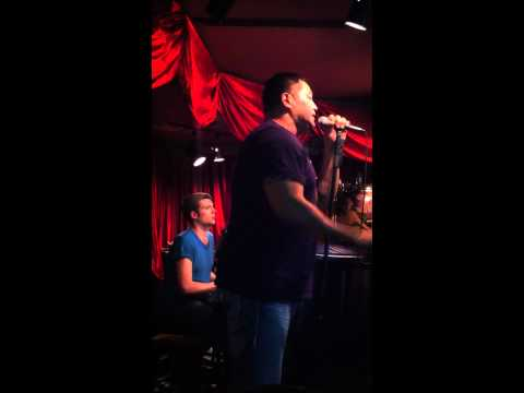 Esera Tuaolo singing Adele's Someone like You at Don't Tell Mamma bar in NYC... amazing voice