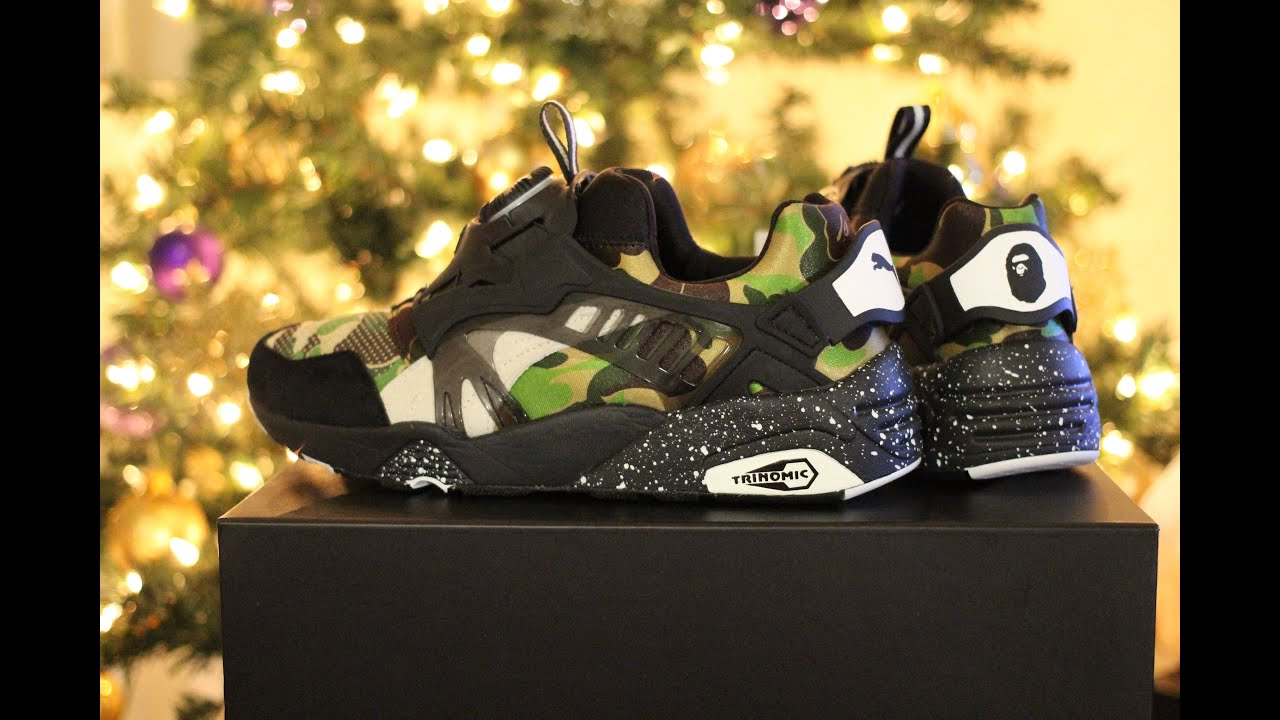 745ff79837792 Quick Overview of Bape x Puma Collaboration Disc Blaze Green Camo Sneaker