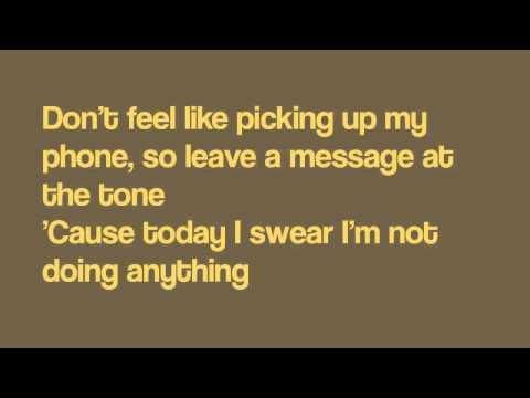 Bruno Mars-The Lazy Song (Lyrics)