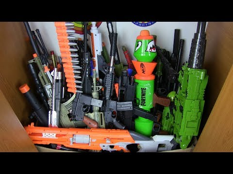Box Of Toys ! What Is In My Closet? Toys For Kids-Military Plastic Guns Toys