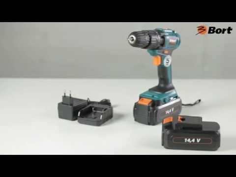 Дрель аккумуляторная BORT BAB 14Ux2 DK