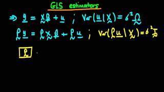 GLS estimators in matrix form - part 1