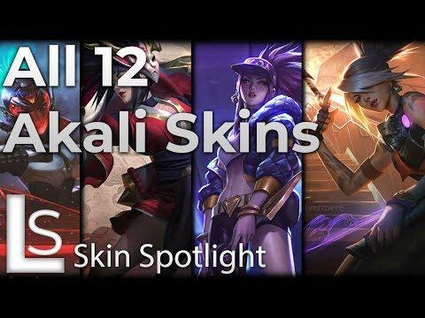 ALL AKALI SKINS - Skin Spotlight - League of Legends - Including True Damage Akali