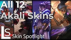 ALL AKALI SKINS - Skin Spotlight - League of Legends - Including True Damage Akali