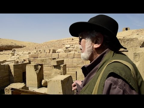 John Anthony West in the Temple of Osiris and the Oseirion - 2015