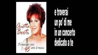 ORIETTA BERTI - IL NOSTRO CONCERTO - Lyrics & Karaoke.avi