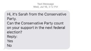 Conservatives using robotexting to generate support