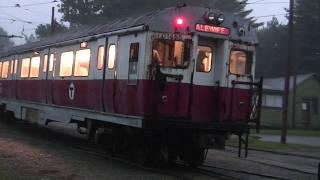"MBTA 01400 series ""Bluebirds"" First Run at Seashore Trolley Museum"
