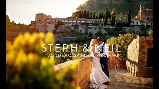 Mallorca wedding video   Steph & Neil video   Wedding Mallorca   Valldemossa Hotel