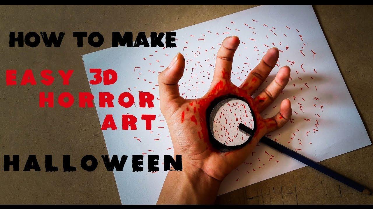 Halloween Makeup Tutorial: How To Make 3D Horror Art Halloween ...