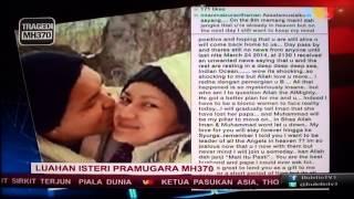 Pembaca berita TV3 sedih #MH370