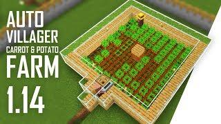Cara Membuat Auto Villager Carrot \u0026 Potato Farm - Minecraft Indonesia 1.14