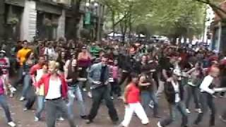 Michael Jackson Birthday Celebration -Seattle Flash Mob-Beat It