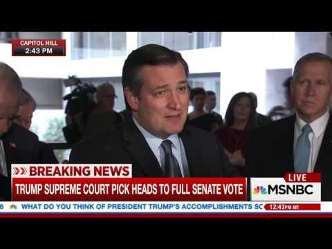 Sen. Cruz & Senate Colleagues Respond to Judiciary Committee Vote on Judge Gorsuch