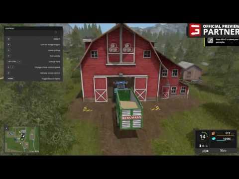Farming Simulator 17 - Unloading Crops, New Holland, Bergmann Trailer (OFFICIAL Preview Partner)