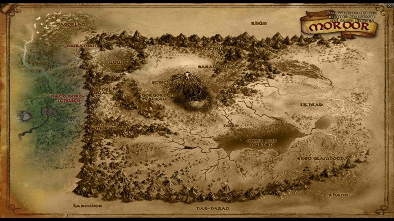 mordor karte Herr der Ringe Online U19 [001] Karte von Mordor, Überblick