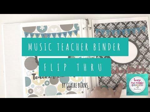 Ultimate Music Teacher Planning Binder Flip-Through