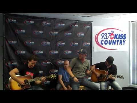 """Cole Swindell """"Brought To You By Beer"""" performed at 93.7 kiss country Studios"""