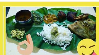How to serve food on banana leaf in brahmin style/South Indian food serving style