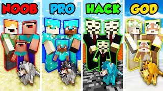 Minecraft NOOB vs. PRO vs. HACKER vs GOD: FAMILY LIFE 2 in Minecraft! (Animation)