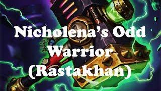 Hearthstone [WILD] Nicholena's Odd Warrior: Burrowing Mine wins games? / You face Jaraxxus? (1080p)