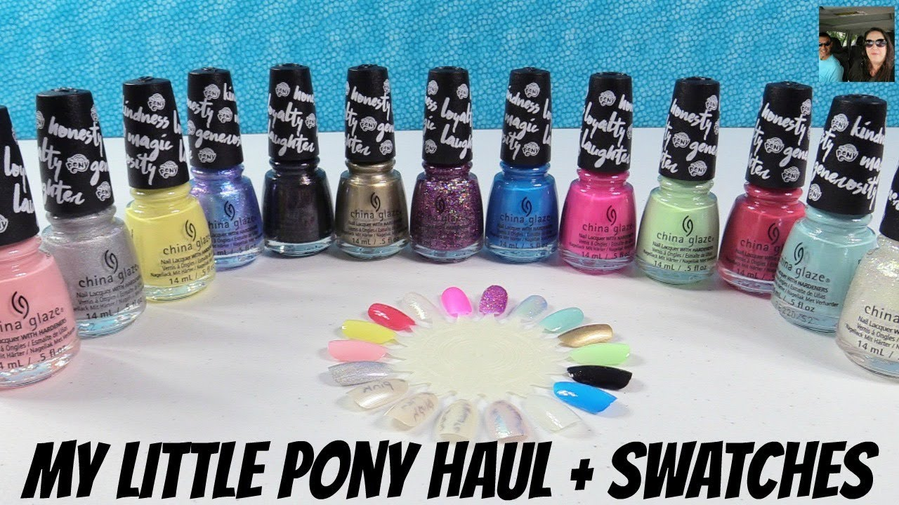 China Glaze My Little Pony Mlp Movie Nail Polish Collection Haul Swatches