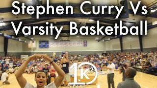 Stephen Curry Vs Varsity Basketball Team