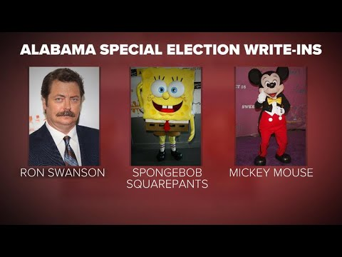 Alabama voters got creative with write-in candidates